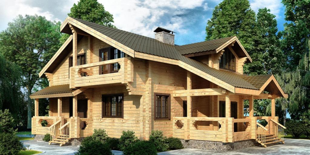 проектирование и строительство домов из бруса