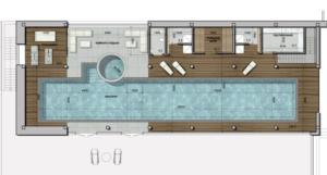 проект бассейна сверху