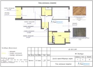 План напольного покрытия