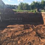 подготовка песчано-гравийной подушки под новый фундамент