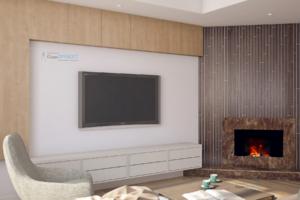 Визуализация дизайна интерьера 1 этажа