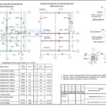 Схема нижней и верхней горизонтальной обвязочной доски