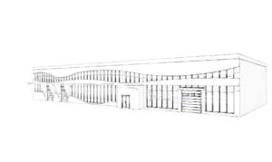 эскиз здания под автосервис 2000м2