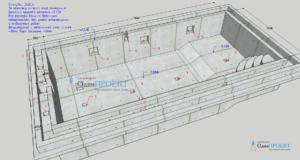 проект плавательного бассейна 7,8 х 3,5 метра
