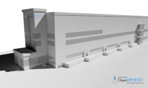 3d модель производственного здания