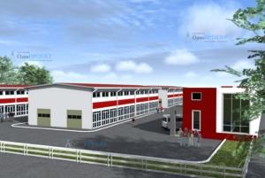 визуализация здания автотехцентра